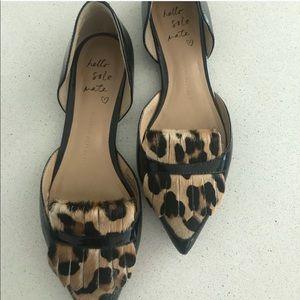 Banana Republic patent leather leopard flats 6.5